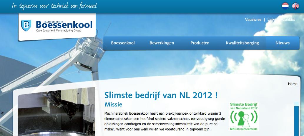 Boessenkool; 2012; Over vakmanschap, het delen van verantwoordelijkheden en technologische hoogstandjes in Twente